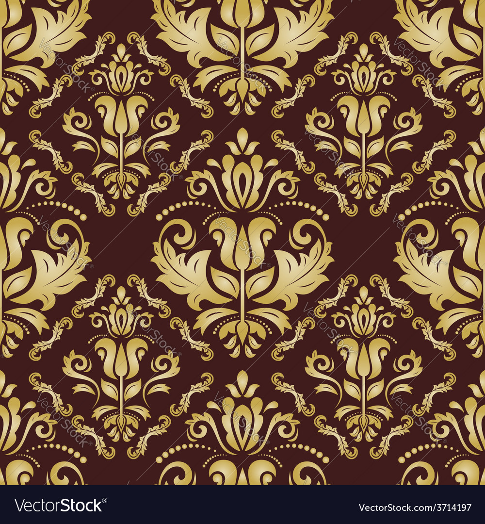 Golden pattern in the style of baroque abstract vector | Price: 1 Credit (USD $1)