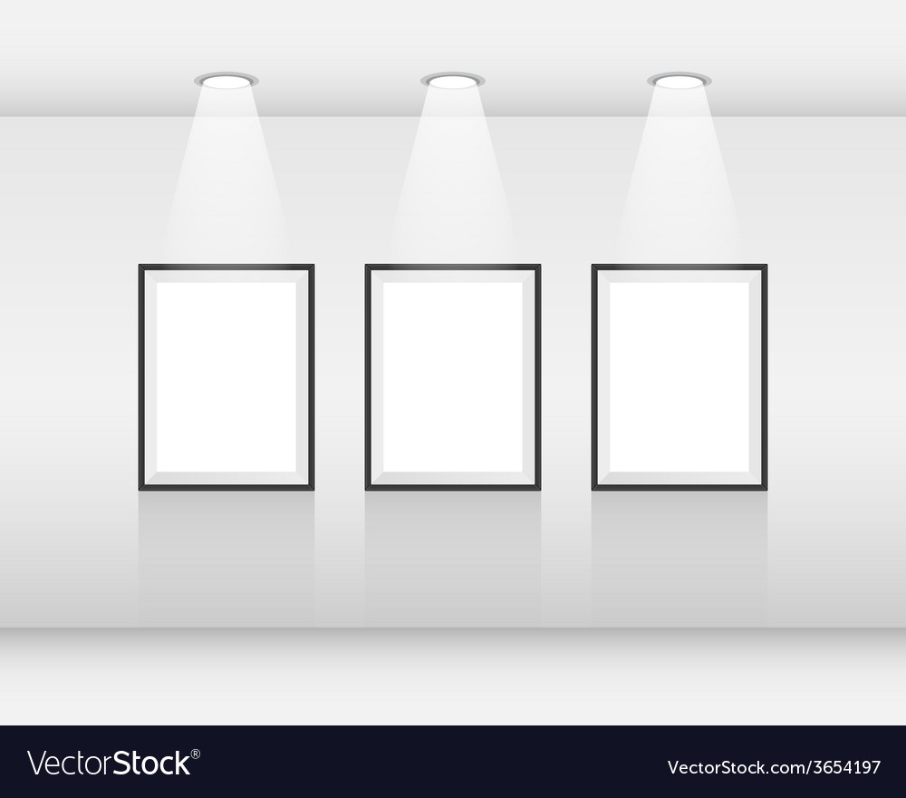 Interior art gallery frames vector | Price: 1 Credit (USD $1)