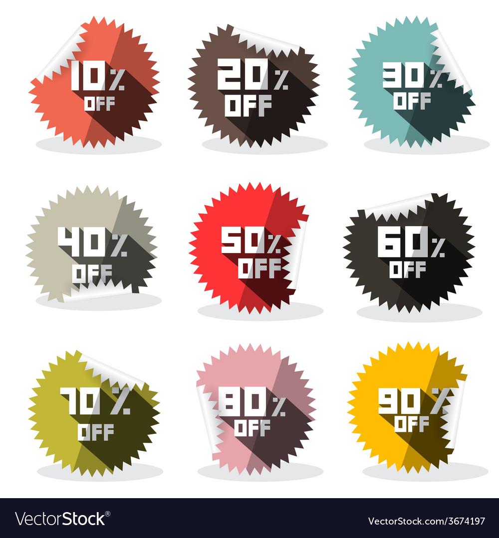 Sale retro stickers - labels vector | Price: 1 Credit (USD $1)