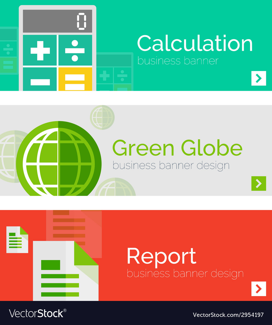 Set of flat design business concepts banners vector | Price: 1 Credit (USD $1)