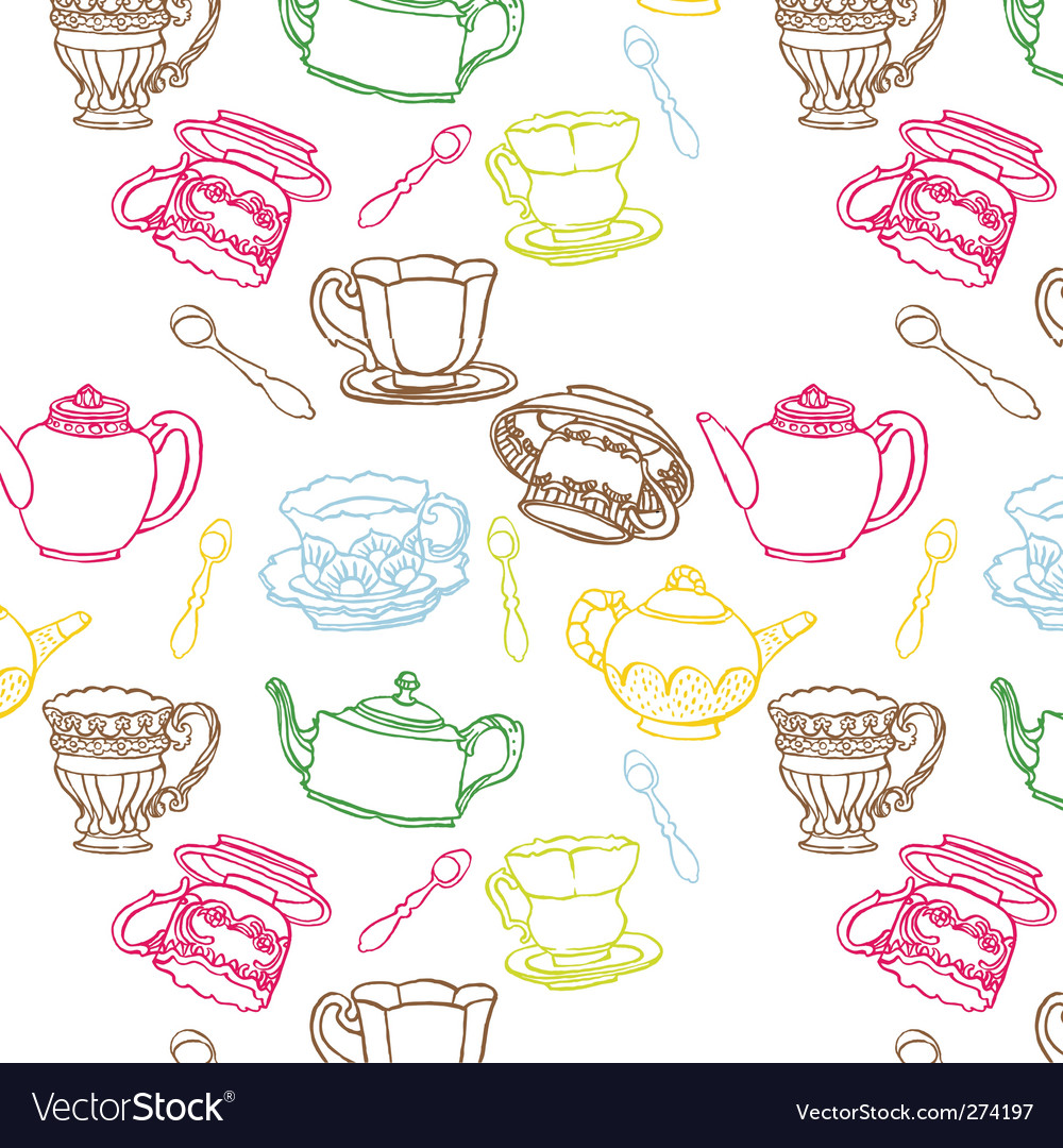 Teapot seamless vector | Price: 1 Credit (USD $1)