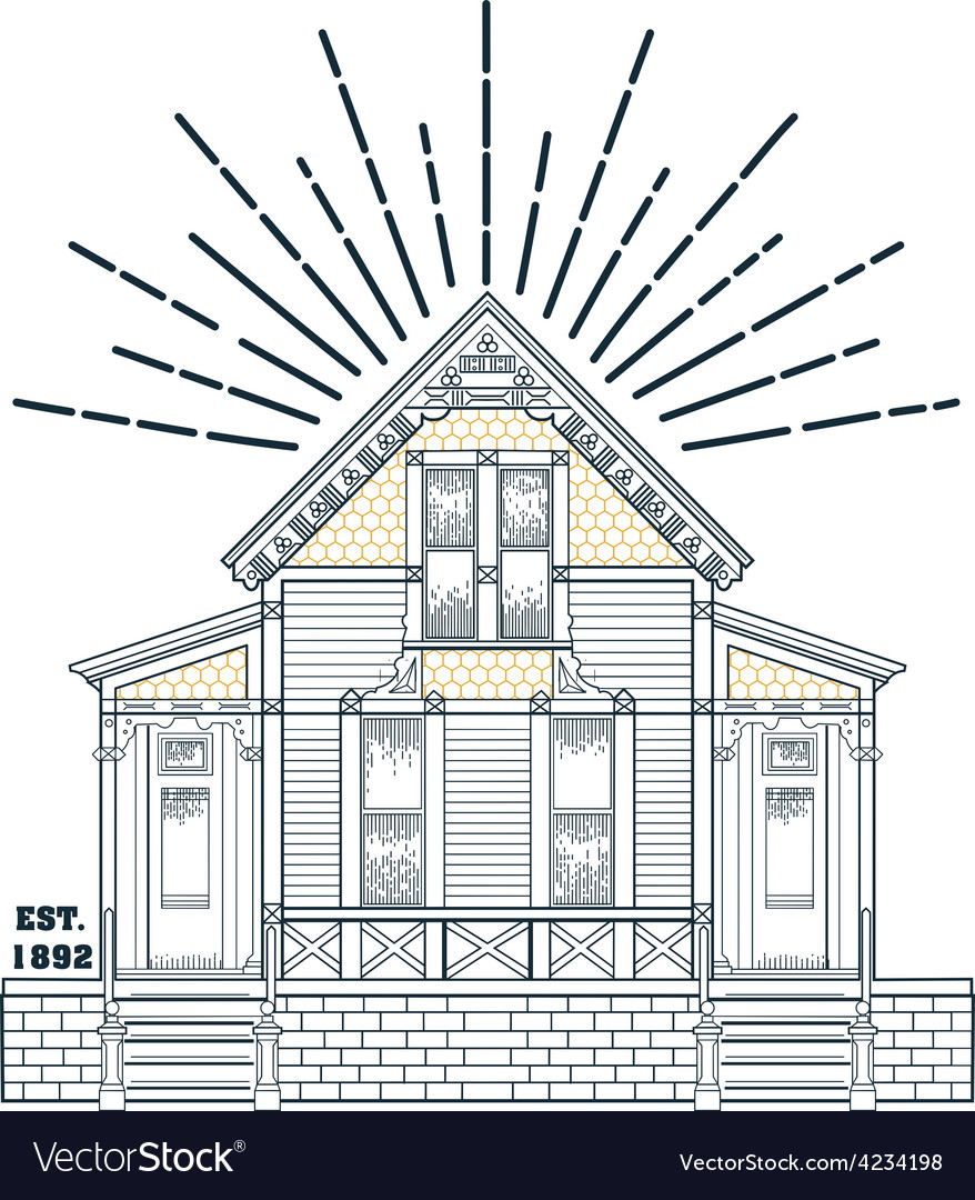 000 old house vector | Price: 1 Credit (USD $1)