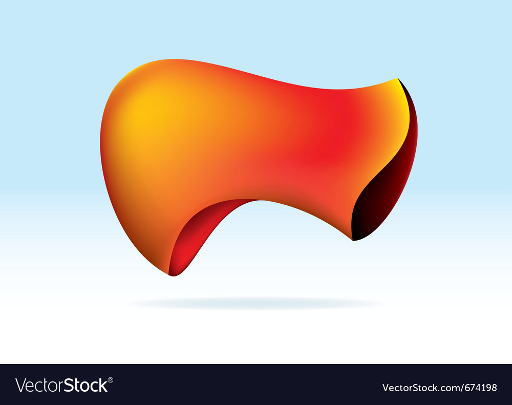 Abstract orange organic shape vector | Price: 1 Credit (USD $1)