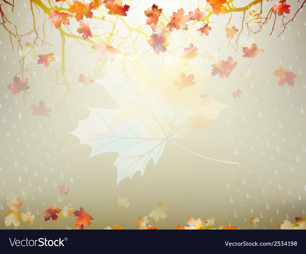 Autumnal maple leaf made of triangles eps 10 vector   Price: 1 Credit (USD $1)