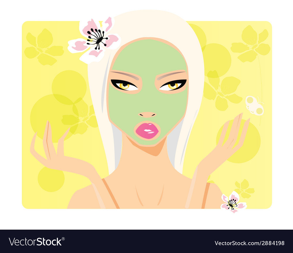 Beautiful girl beauty cosmetics vector | Price: 1 Credit (USD $1)