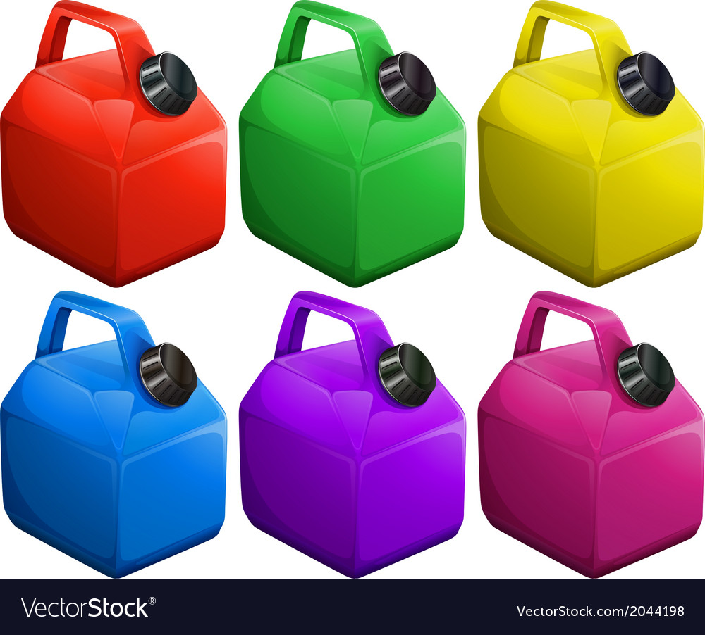 Colorful gas containers vector | Price: 1 Credit (USD $1)