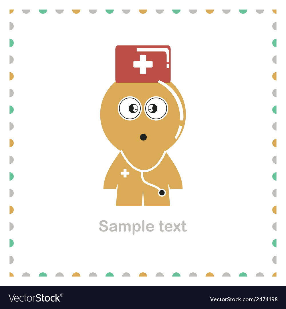 Funny character isolated on white vector   Price: 1 Credit (USD $1)
