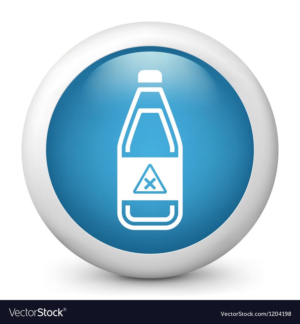 Hazardous bottle glossy icon vector | Price: 1 Credit (USD $1)