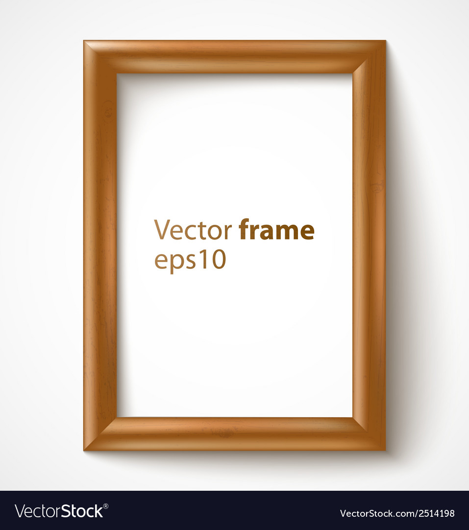 Light wooden rectangular 3d photo frame with vector | Price: 1 Credit (USD $1)