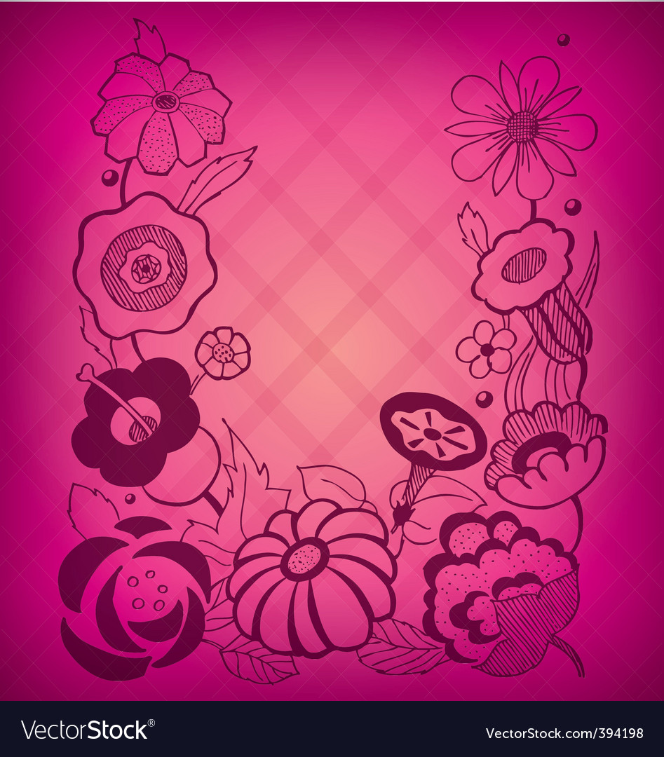 Magenta floral background vector | Price: 1 Credit (USD $1)