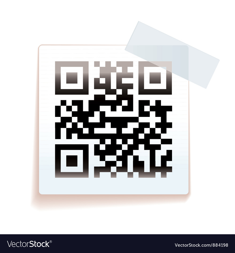 Qr paper tag vector | Price: 1 Credit (USD $1)