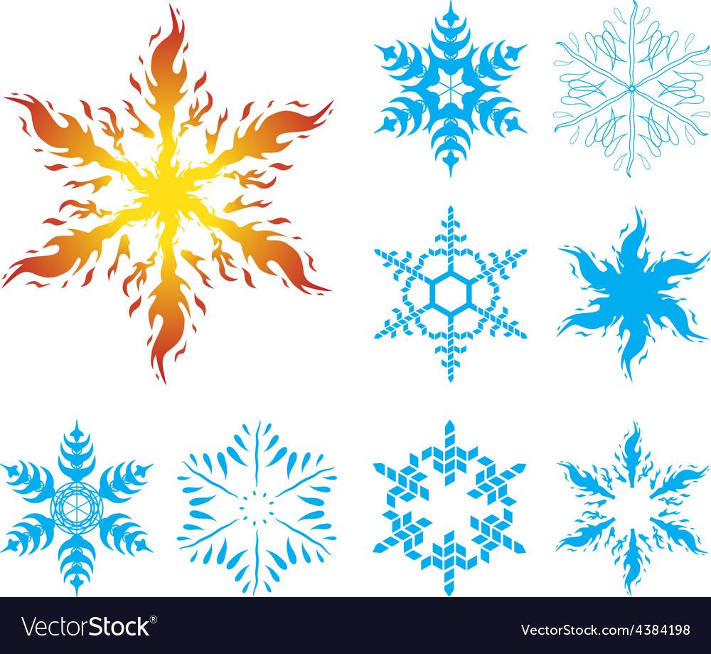Snowflakes iv002 vector | Price: 1 Credit (USD $1)