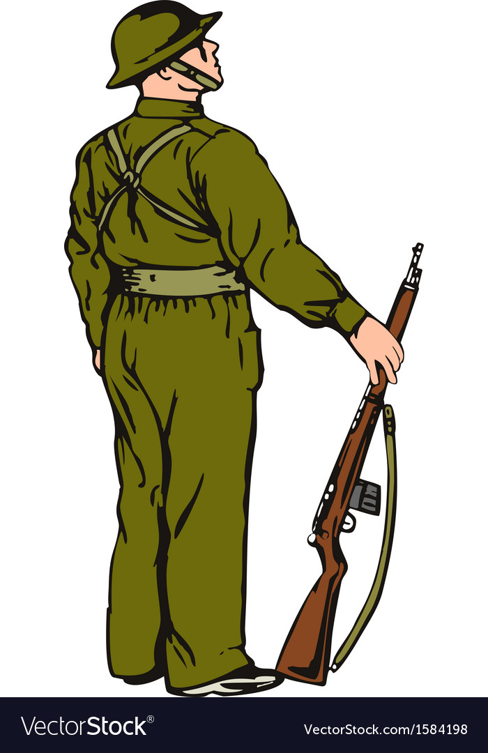 Soldier on guard vector | Price: 1 Credit (USD $1)