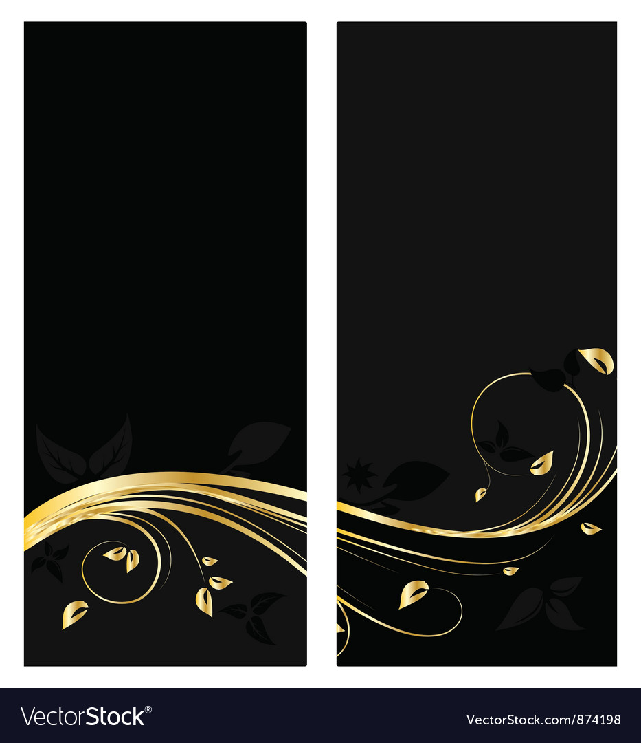Vintage gold banner vector | Price: 1 Credit (USD $1)