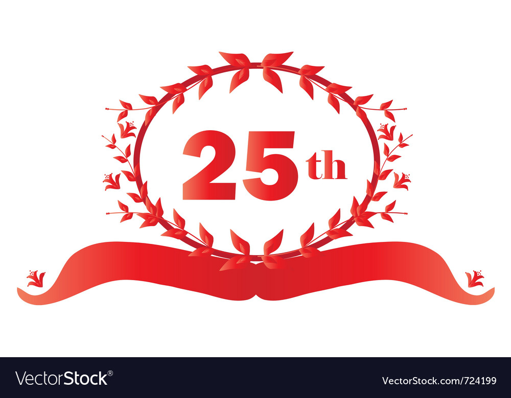 25th anniversary vector | Price: 1 Credit (USD $1)