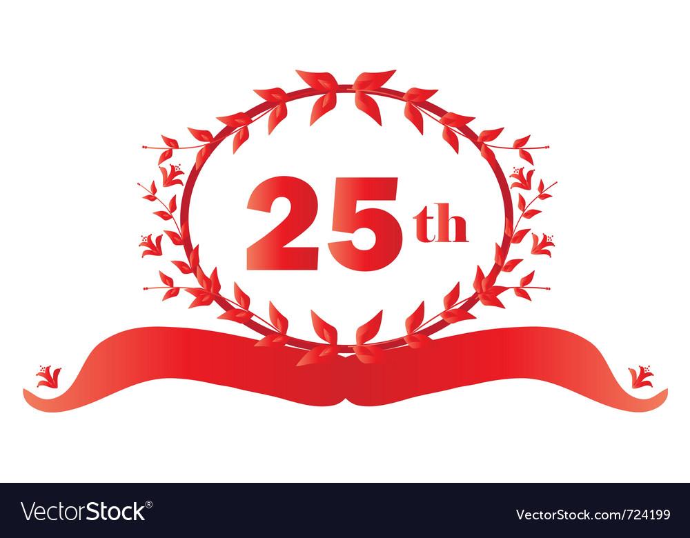 25th anniversary vector | Price: 1 Credit (USD $1)
