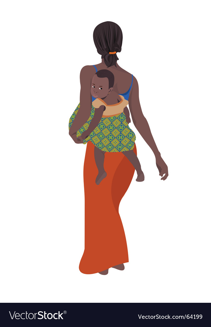 African mother vector | Price: 1 Credit (USD $1)