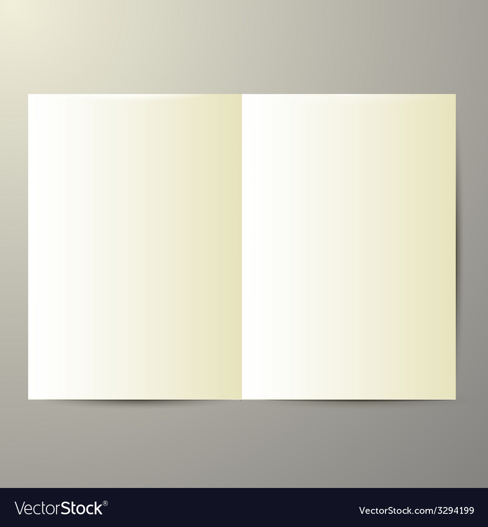 Blank magazine on white background vector | Price: 1 Credit (USD $1)
