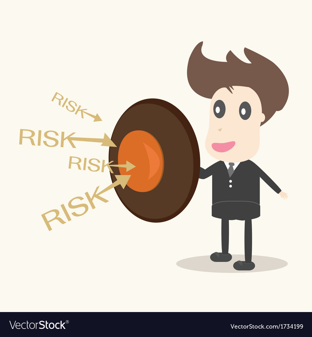 Businessman with shield business concept vector | Price: 1 Credit (USD $1)