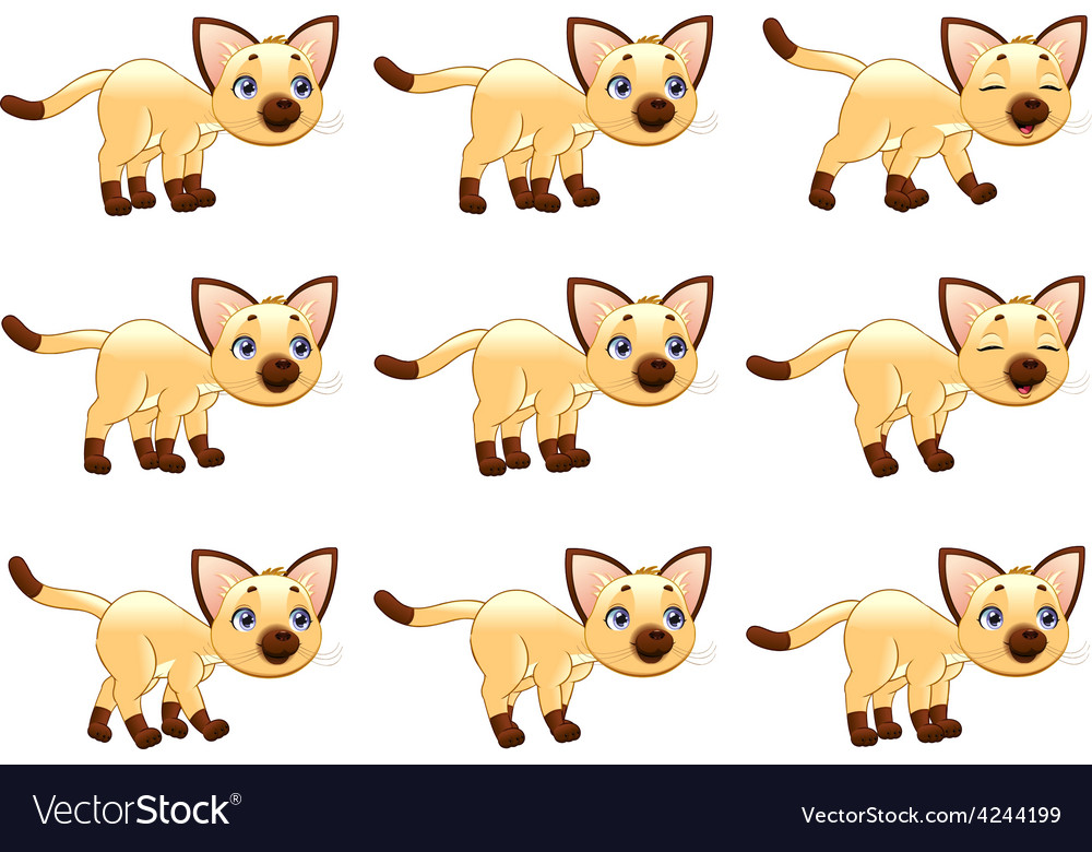 Cat walking animation vector | Price: 1 Credit (USD $1)