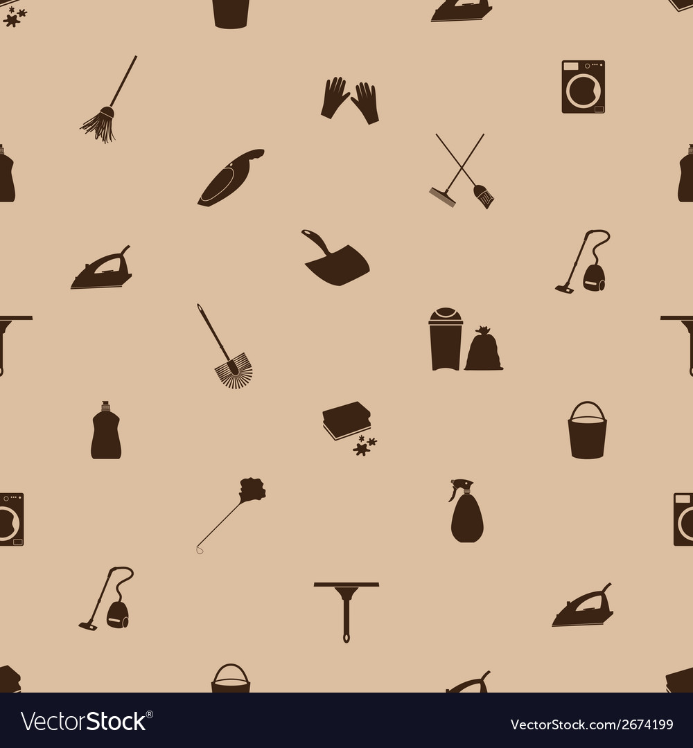 Cleaning icons seamless pattern eps10 vector | Price: 1 Credit (USD $1)