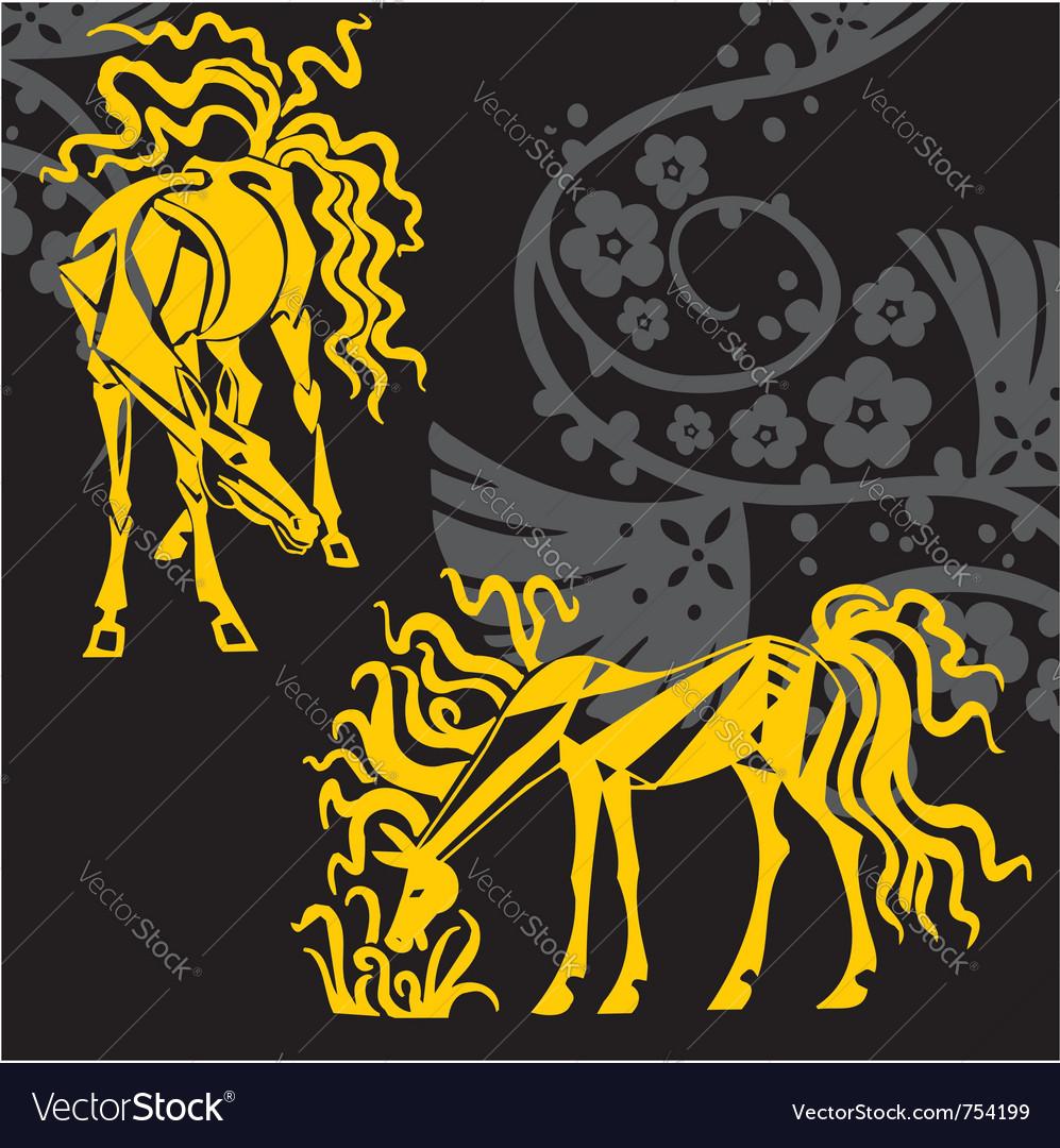 Horse design - vector | Price: 1 Credit (USD $1)
