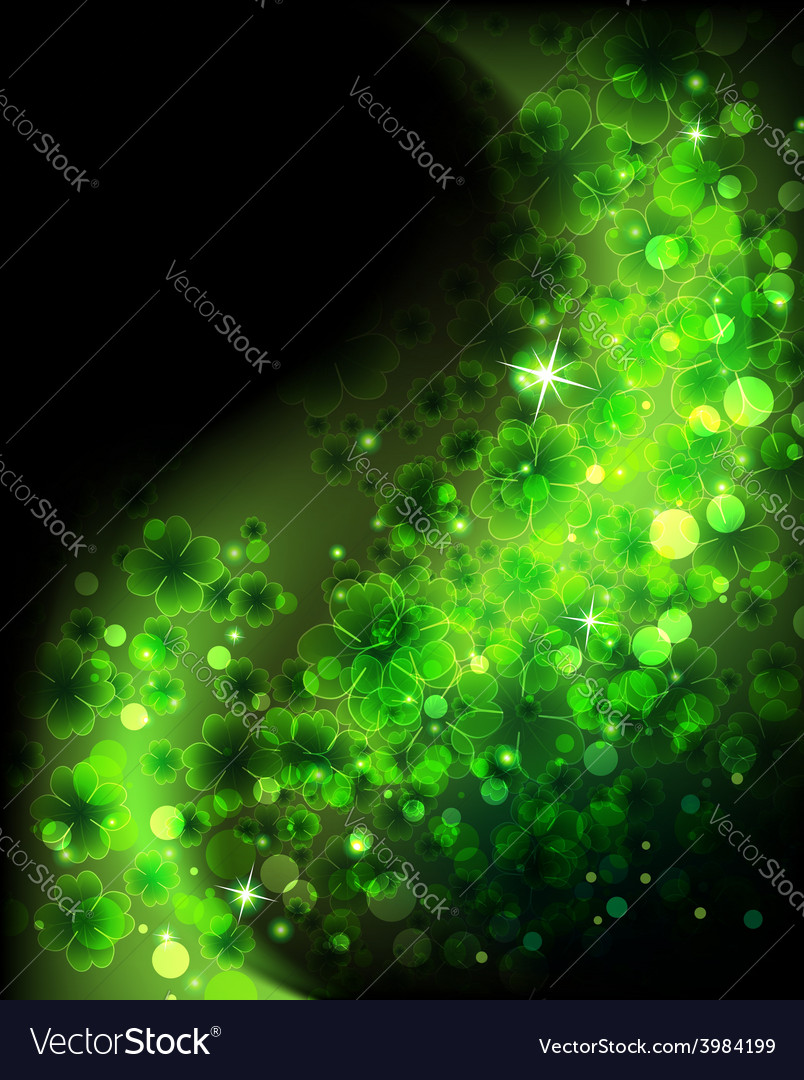 Magic four leaf clover background vector | Price: 1 Credit (USD $1)