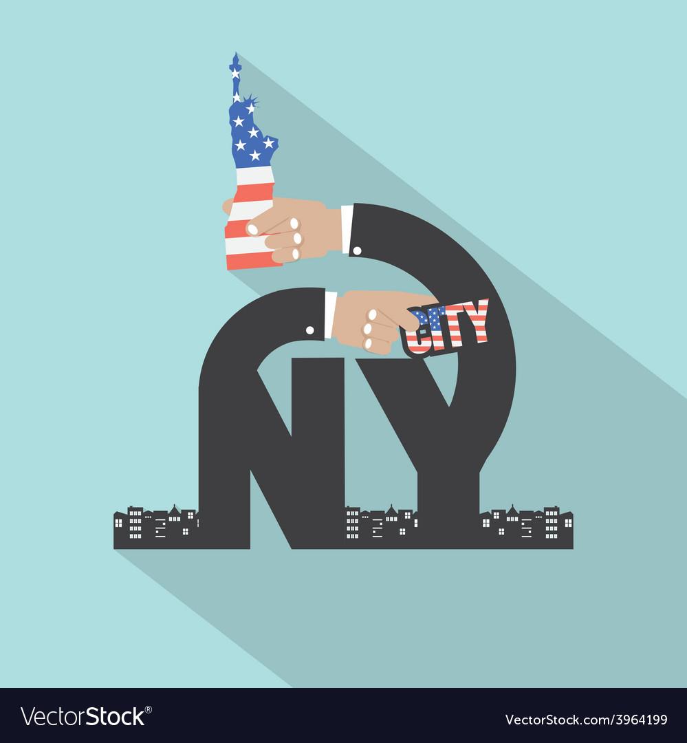 New york city typography design vector | Price: 1 Credit (USD $1)