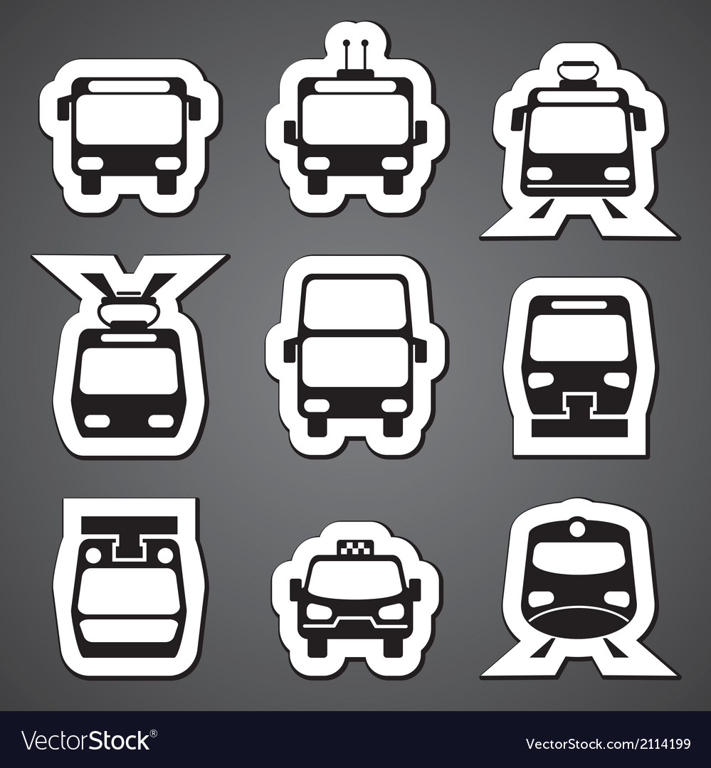 Public transport label vector | Price: 1 Credit (USD $1)