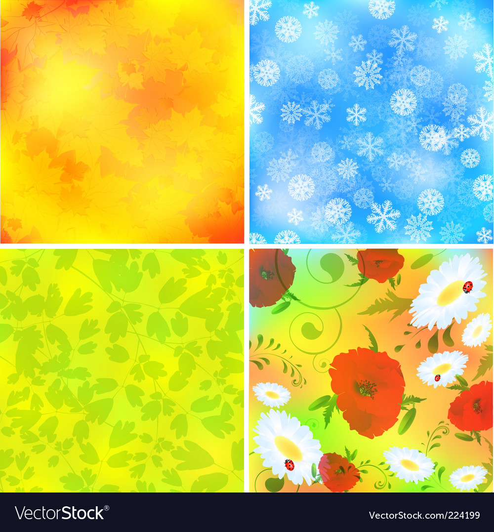 Seasonal backgrounds vector | Price: 1 Credit (USD $1)