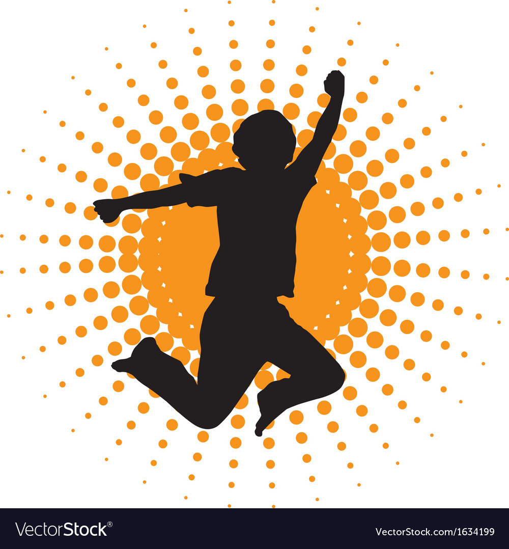 Silhouette of jumping men vector | Price: 1 Credit (USD $1)