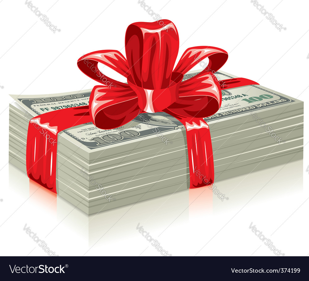 Thick bundle of dollars vector | Price: 3 Credit (USD $3)