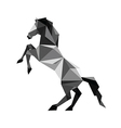 Origami black horse vector
