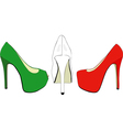 The italian fashion industry vector