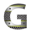 Perforated metal letter g vector