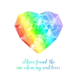 Rainbow stone heart vector