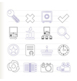 Internet and web site icons vector