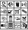Internet web icon series set vector