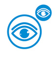 Eye simple single color icon isolated on white vector