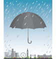 London under umbrella vector