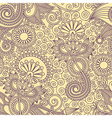 Ornate floral vintage seamless pattern vector