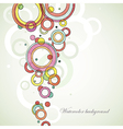 Circle abstract watercolor background vector