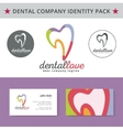 Abstract dentist tooth identity pack concept logo vector