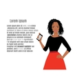 African girls with mobile phone vector