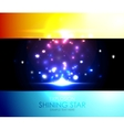 Shiny salute colorful background vector