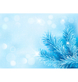 Holiday blue background with tree branches and vector