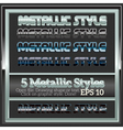 Set of various metallic styles for design vector