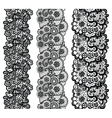 Lacy vintage trims set of black lacy vintage vector