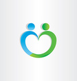 Heart shape people icon vector