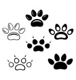 Brown footprints vector